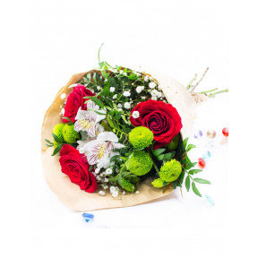 Roses and Chrysanthemum BouquetInclude