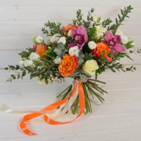 Rose And Freesia Bouquet (Small)