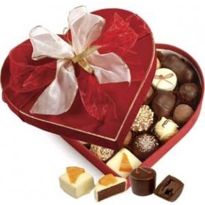 Chocolates with Marzipan at the Gift Box