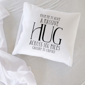 A Massive Hug Personalised Cushion Cover