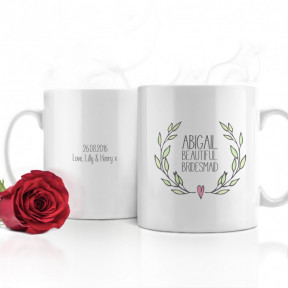 Bridesmaid Personalised Wedding Mug