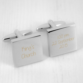 Personalised Venue and Date Cufflinks