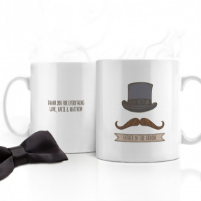Gents Personalised Wedding Mug