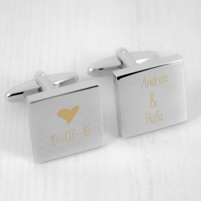 Personalised Date and Names Cufflinks
