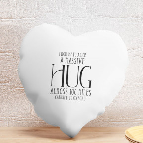 Personalised Heart Cushion Cover - A Massive Hug