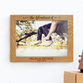 Personalised Oak A4 Wall Picture Frame - The Adventures