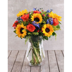 Mixed Sunflower Arrangement