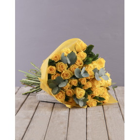 Yellow Roses Bouquet (12 Roses)