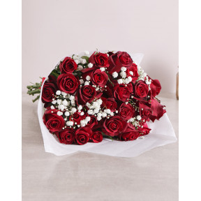 Red Rose Love Is Bouquet Original (12 Roses)