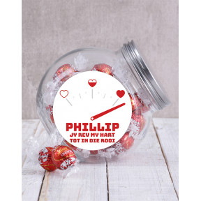 Personalised Rev My Hart Candy Jar