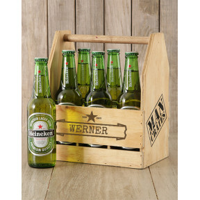 Personalised Six Pack Man Crate
