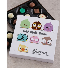 Personalised Get Well Chocolate Tray