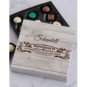 Personalised Happiness Chocolate Tray