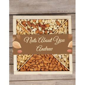 Personalised Nuts About You Tray