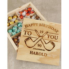 Personalised Pipe Birthday Box