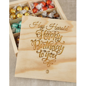 Personalised Birthday Choc Treasure Box