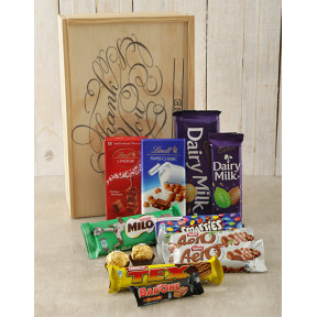 Personalised Thank You Chocolate Crate