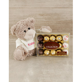Personalised Teddy and Ferrero