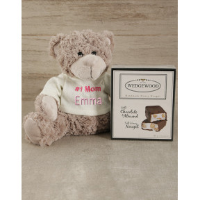 Personalised 1 Mom Teddy & Nougat