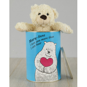 Personalised Love You Teddy Tin