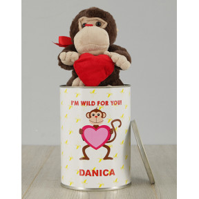 Personalised Monkey Tin