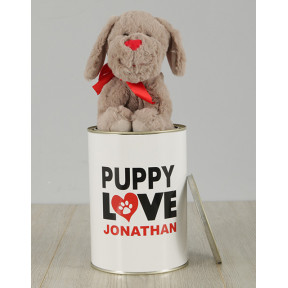 Personalised Puppy Love Tin