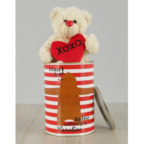 Personalised Live Without You Teddy Tin