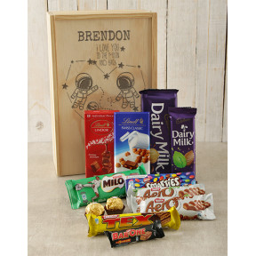 Personalised Moon and Back Choc Crate