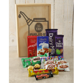 Personalised Fueled By Chocolate Crate
