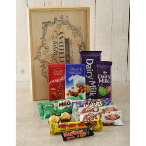 Personalised Happy Birthday Choc Crate
