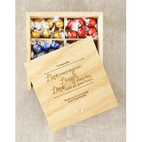 Personalised Live Laugh Love Lindt Box