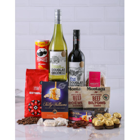 Gift Box Of Wine Biltong And Chocolates (Standard)