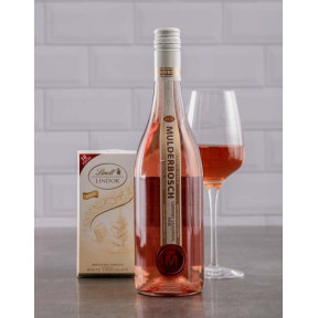 Mulderbosch Rose and Lindt White Chocolate