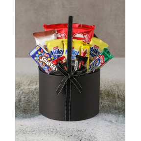 Large Chocolate Filled Hatbox (Standard)