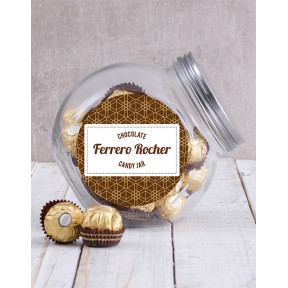 Candy Jar Of Ferrero Rocher Truffles (20 Ferrero)