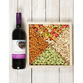 Spicy Snacks and Red Wine Hamper