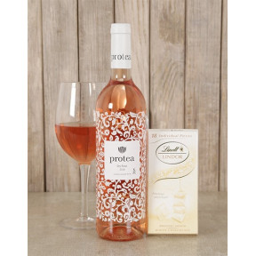 Blushing Wine and Lindt Choc Duo