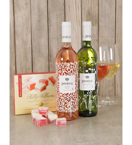 Delightful Protea Wine and Sally Williams Gift Box