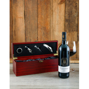 Wooden Wine Crate and Accessories