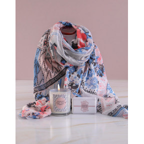 Scarf, Bubbles and Candle Gift Set