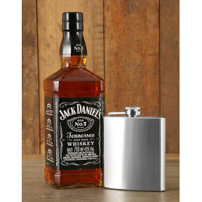 Jack Daniel's and Hip Flask Hamper