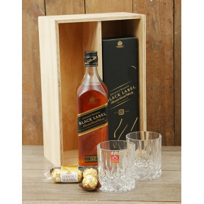 Whisky and Crystal Tumblers Crate