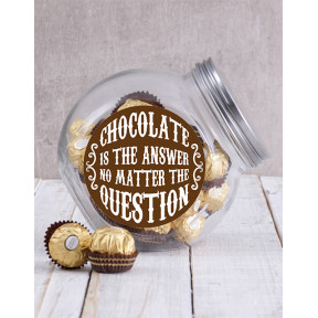 Chocolate Is The Answer Candy Jar (Ferrero Rocher)