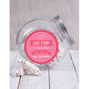 Our Love Story Candy Jar