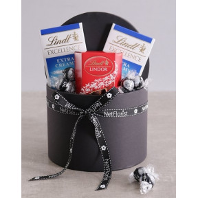 Lindt Trio In Hat Box
