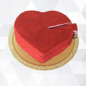 Red Heart Cake (Medium)