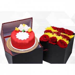 Miniature Package And Sweet Blossoms (Small)