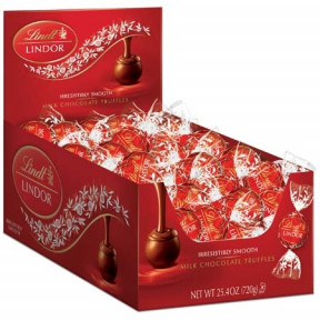 Milk Chocolate Lindor Truffles Box (60-Pc, 25.4 Oz)