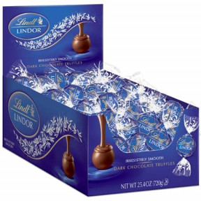 Dark Chocolate Lindor Truffles Box (60-Pc, 25.4 Oz)