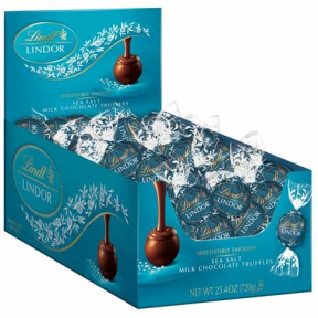 Sea Salt Milk Chocolate Lindor Truffles Box (60-Pc, 25.4 Oz)